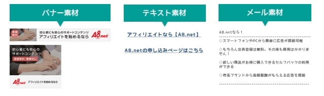A8.netの広告タイプについて
